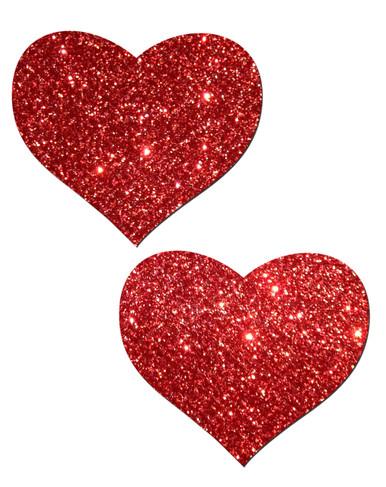 PASTEASE HEART RED GLITTER   PASHRTGLTRD5   [category_name]