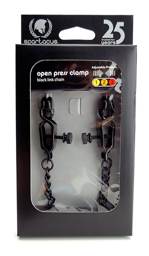 OPEN WIDE BLACKLINE CLAMP W/ LINK CHAIN   SPF07   [category_name]