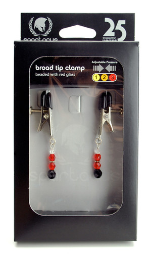 BROAD TIP CLAMP W/RED BEADS | SPF102 | [category_name]