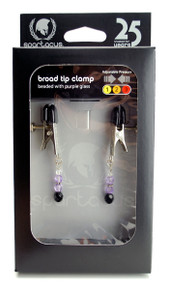 BROAD TIP CLAMP W/PURPLE BEADS | SPF103 | [category_name]