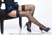 FISHNET THIGH HIGH W/ LACE TOP BLACK OS | CQ1732BLK | [category_name]