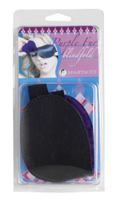 CLASSIC BLINDFOLD W/ PURPLE FUR
