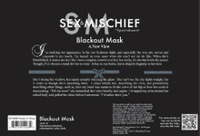 SEX & MISCHIEF BLACKOUT MASK | SS10088 | [category_name]