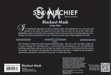 SEX & MISCHIEF BLACKOUT MASK   SS10088   [category_name]