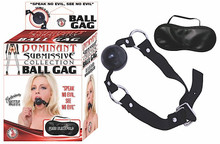 DOMINANT SUBMISSIVE BALL GAG BLACK