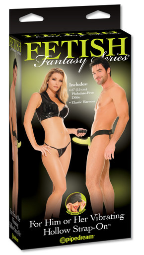 FETISH FANTASY HOLLOW STRAP ON FOR HIM OR HER VIB. GLO | PD336732 | [category_name]