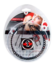 H2H NIPPLE CLAMPS TWEEZER W/CHAIN BLACK | PY1003BLK | [category_name]