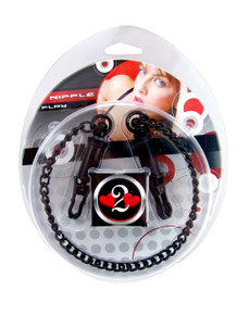 H2H NIPPLE CLAMPS BARREL W/CHAIN BLACK   PY1004BLK   [category_name]