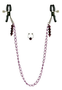 NIPPLE CLAMPS PURPLE CHAIN | SE260914 | [category_name]