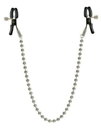 NIPPLE CLAMPS SILVER BEADED   SE261010   [category_name]