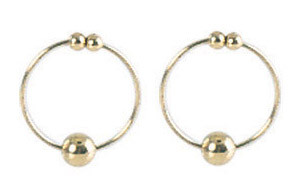 NIPPLE RING-GOLD | SE263007 | [category_name]