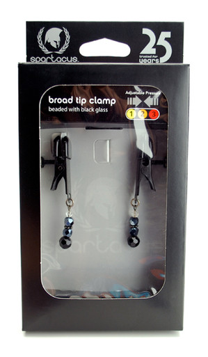 CLAMP BLACK BROAD TIP W/BEADS   SPF114   [category_name]