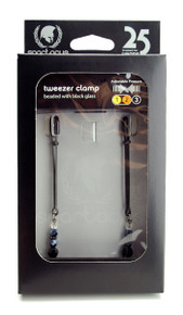 BLACK TWEEZER CLAMP BLACK W/BEADS | SPF115 | [category_name]
