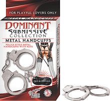 DOMINANT SUBMISSIVE METAL HANDCUFFS