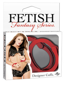 FETISH FANTASY DESIGNER RED METAL HANDCUFFS | PD380115 | [category_name]