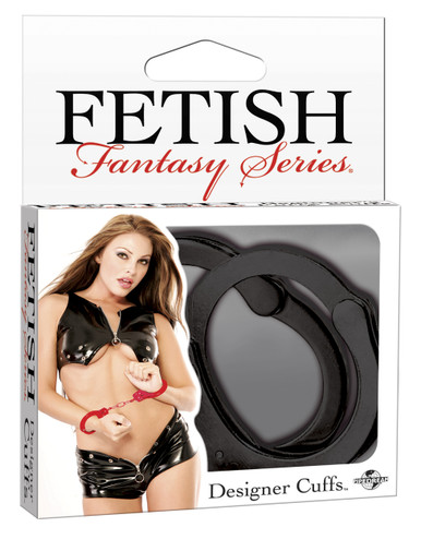 FETISH FANTASY DESIGNER BLACK METAL HANDCUFFS | PD380123 | [category_name]