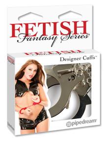FETISH FANTASY DESIGNER SILVER METAL HANDCUFFS | PD380126 | [category_name]