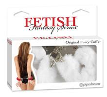 FETISH FANTASY ORIGINAL FUR HANDCUFFS-WHITE | PD380419 | [category_name]