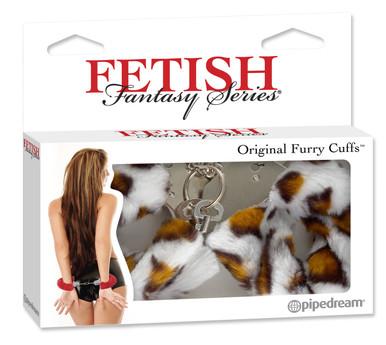 FETISH FANTASY ORIGINAL FUR HANDCUFFS-LEOPARD | PD380440 | [category_name]