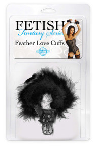 FETISH FANTASTY FEATHER LOVE CUFFS BLACK