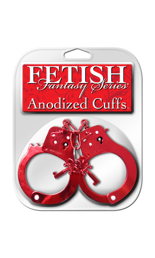 FETISH FANTASY ANODIZED CUFFS RED | PD381615 | [category_name]