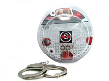 H2H HANDCUFFS DOUBLE LOCKING NICKEL | PY1403N | [category_name]
