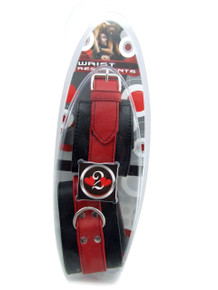 H2H RESTRAINT WRIST SOFT LEATHER RED/BLACK | PY313R | [category_name]