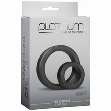 PLATINUM SILICONE C RING CHARCOAL | DJ010801 | [category_name]