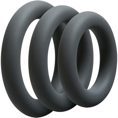 OPTIMALE 3 C-RING SET THICK SLATE | DJ069005 | [category_name]