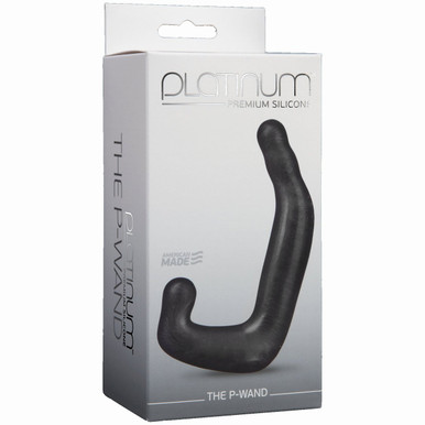 PLATINUM SILICONE P WAND CHARCOAL   DJ010701   [category_name]