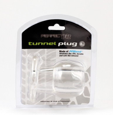 PERFECT FIT TOY TUNNEL PLUG LG ICE CLEAR | PERHP03C | [category_name]
