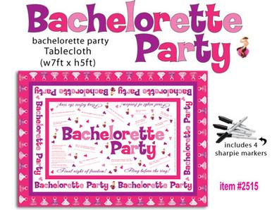 BACHELORETTE PARTY TABLECLOTH TRIVIA   HO2515   [category_name]