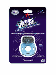 SEXVOLTZ PLEASURE RING & BULLET BLUE(NET)