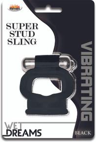 WET DREAMS SUPER STUD SLING BLACK | HO2935 | [category_name]