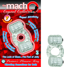 MACHO CRYSTAL COLLECTION PARTNERS PLEASURE RING CLEAR | NW2237 | [category_name]