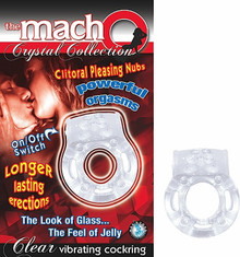 MACHO CRYSTAL COCKRING CLEAR VIBRATING | NW2369 | [category_name]