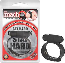 MACHO SNAP ON VIBRO COCK & BALL STRAP