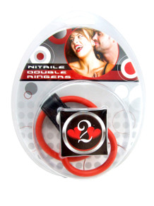 H2H COCK RING DBL RINGER NITRILE RED | PY1201R | [category_name]