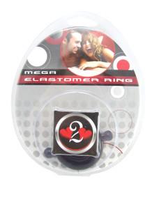 H2H COCK RING ELASTOMER SMALL SMOKE/BLACK | PY1206BLKS | [category_name]
