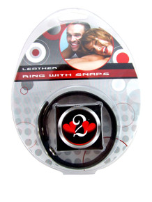 H2H COCK RING LEATHER 2 SNAPS BLACK