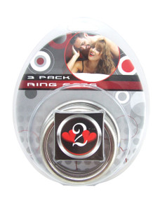 H2H COCK RING METAL 3PC SET CHROME
