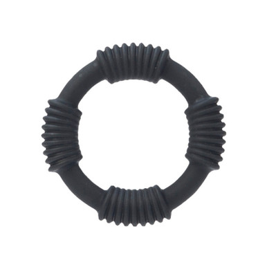 ADONIS SILICONE RING HERCULES BLACK | SE136835 | [category_name]