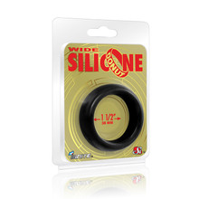 WIDE SILICONE DONUT BLACK 1.5IN   SIN95131   [category_name]