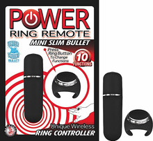 POWER RING REMOTE MINI SLIM BULLET BLACK   NW23721   [category_name]