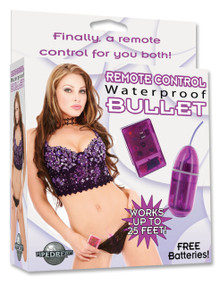 WATERPROOF REMOTE CONTROL BULLET PURPLE | PD267012 | [category_name]