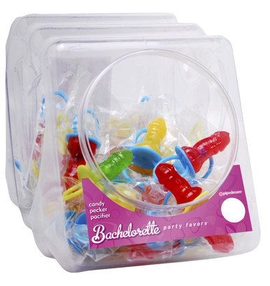 BACHELORETTE CANDY PECKER PACIFIER (48 PER DISPLAY) | PD742899 | [category_name]