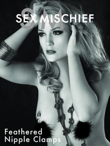 SEX & MISCHIEF FEATHERED NIPPLE CLAMPS | SS10082 | [category_name]