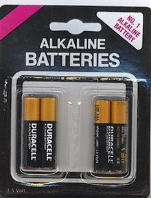 DURACELL AAA BATTERIES 4 PACK | NO725 | [category_name]
