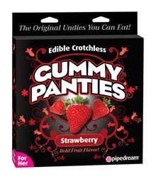 EDIBLE CROTCHLESS GUMMY PANTIES-STRAWBERRY | PD750760 | [category_name]