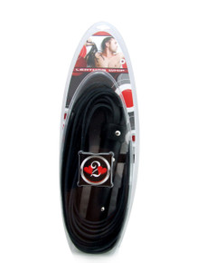 H2H WHIP LEATHER STRAP 20IN BLACK